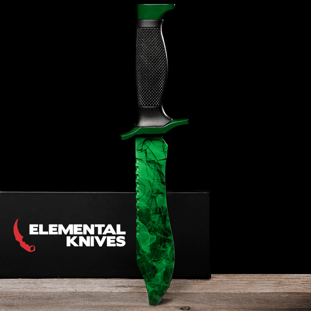 Gamma Phase 2 Bowie Knife-Real Video Game Knife Skins-Elemental Knives