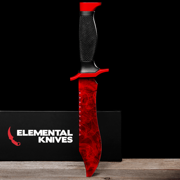 Ruby Bowie Knife-Real Video Game Knife Skins-Elemental Knives