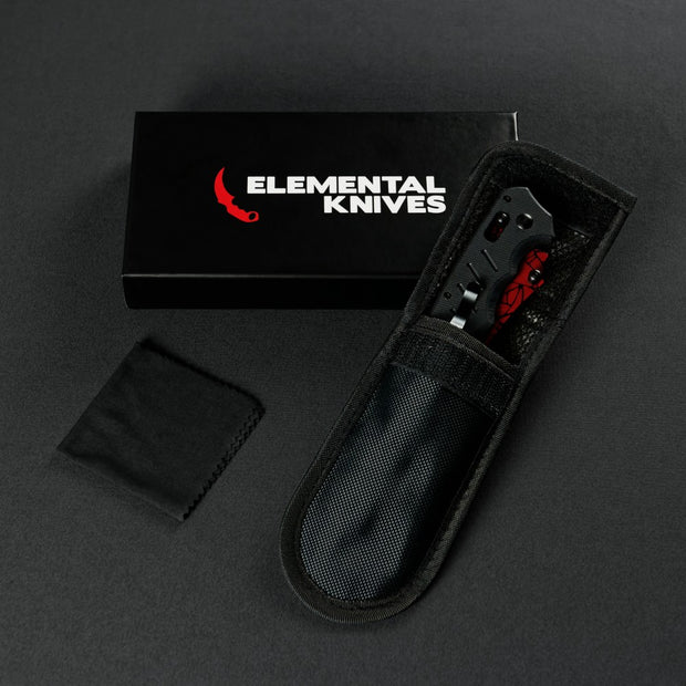 Crimson Web Flip Knife-Real Video Game Knife Skins-Elemental Knives