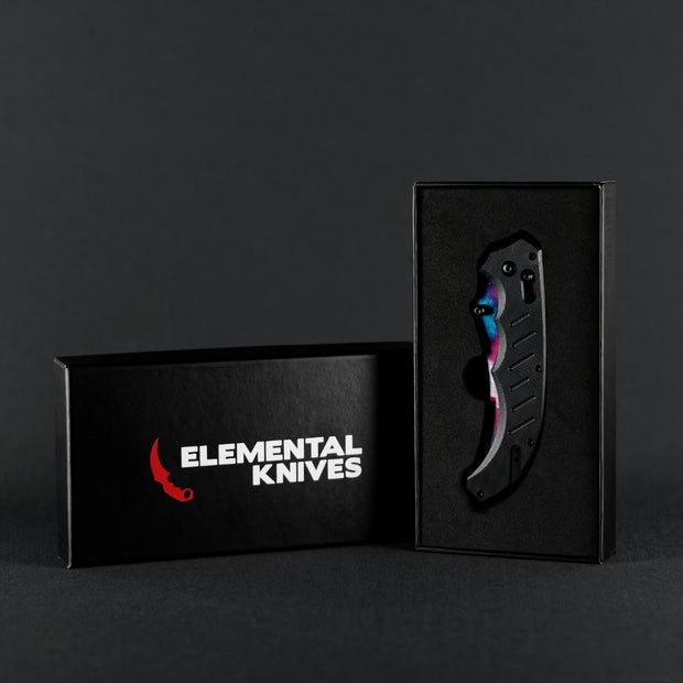 Galaxy Flip Knife-Real Video Game Knife Skins-Elemental Knives