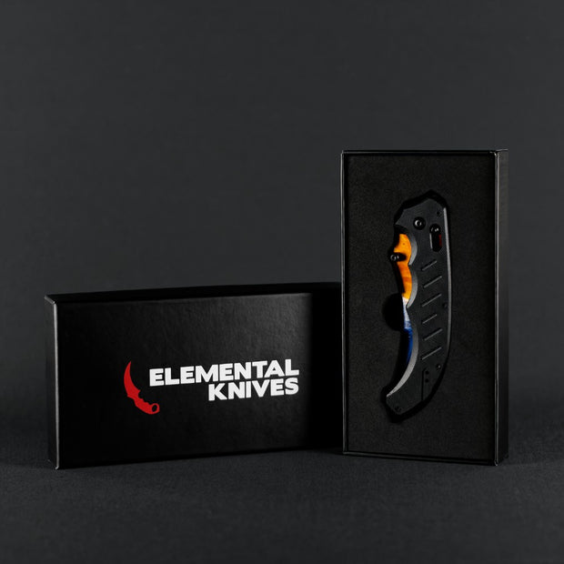 Marble Fade Flip Knife-Real Video Game Knife Skins-Elemental Knives
