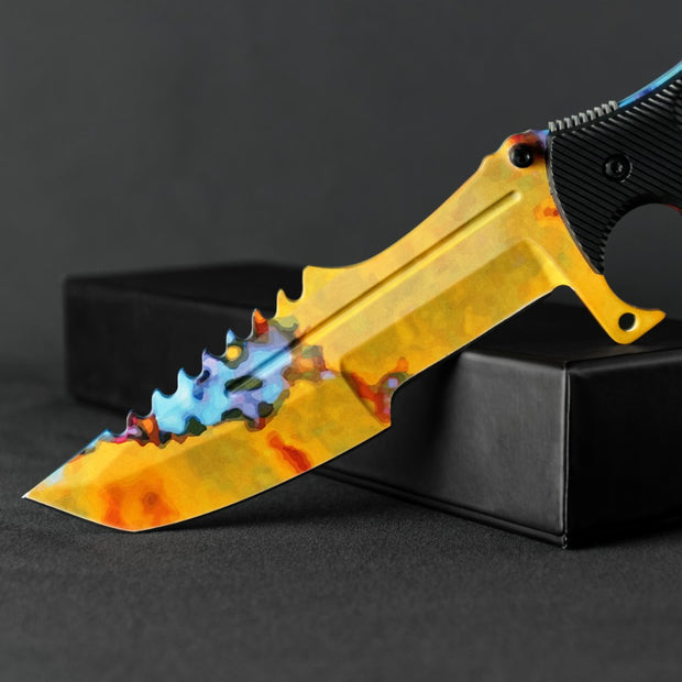 Case Hardened Huntsman Knife-Real Video Game Knife Skins-Elemental Knives