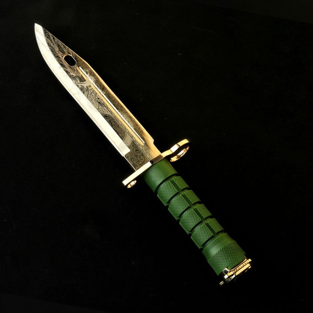 24K D-Lore Bayonet-Real Video Game Knife Skins-Elemental Knives