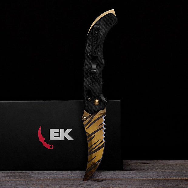 Tiger Tooth Flip Knife
