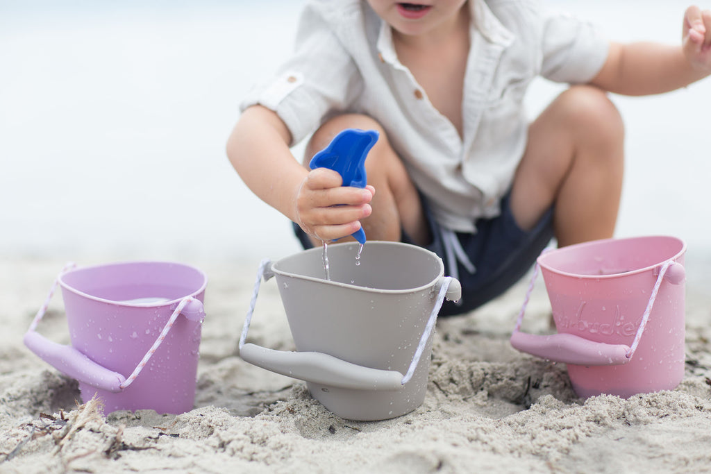 Silicone Beach Bucket - light gray