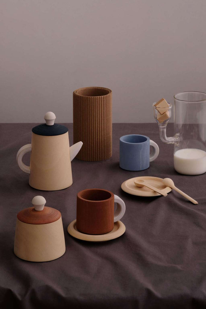 Tea set terra and blue<br> Raduga Grez
