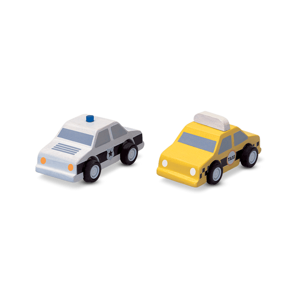 City Taxi & Police Car<br> PlanToys