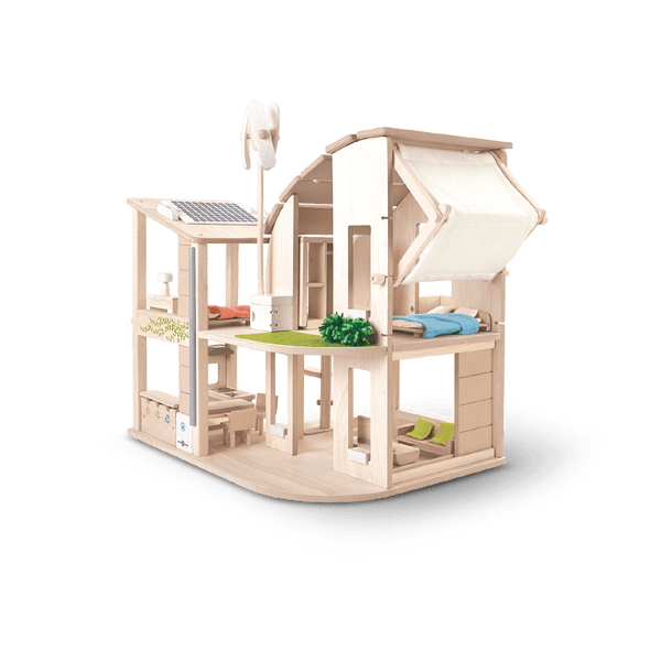 Green Dollhouse With Furniture<br> Plan Toys