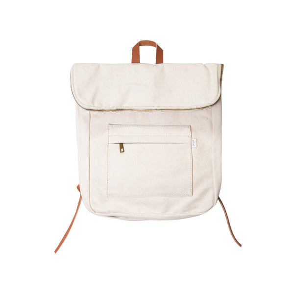 Natural Canvas Backpack<br> Ezrazayn