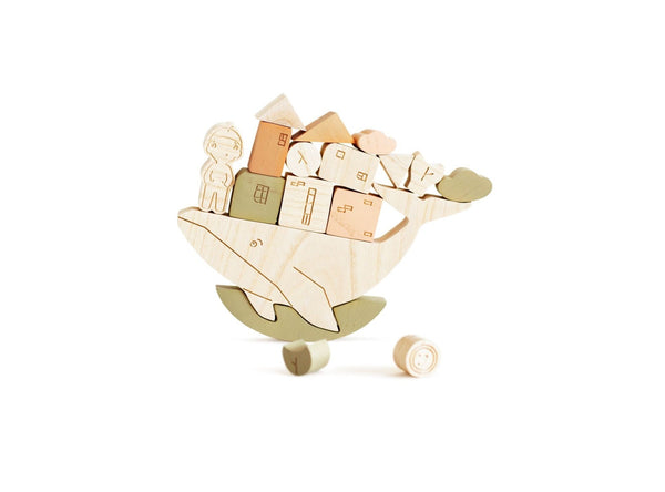 "Wooden Balance Game ""Stories from the Sea"" in Pastel Colors <br>Babai"