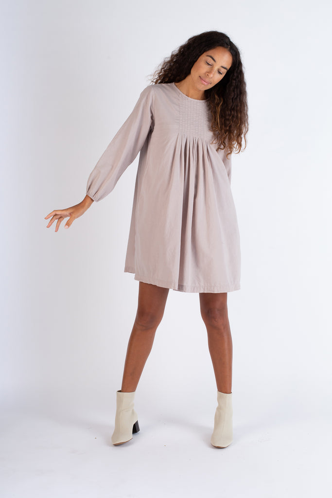 Pleated Babydoll Dress