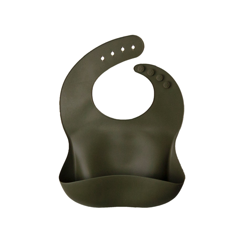 SILICONE BIB - olive <br>Dove and Dovelet
