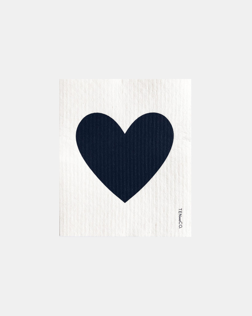 Big Love Black on White Sponge Cloth<br>Ten & Co.