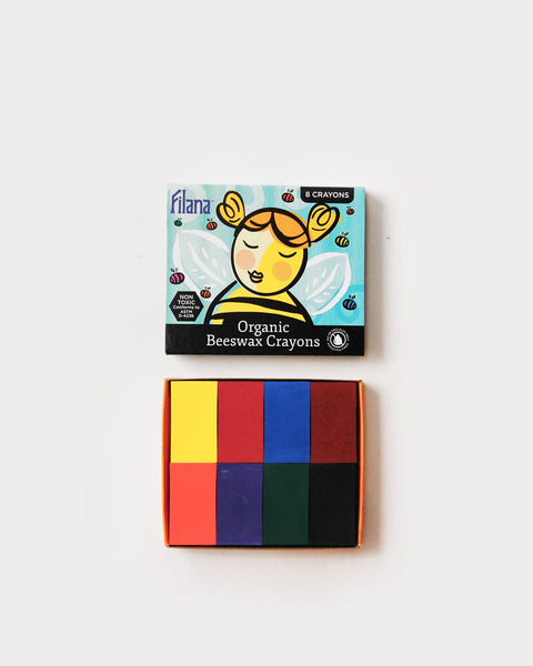 Organic Beeswax Block Crayons - set of 8<br> Filana