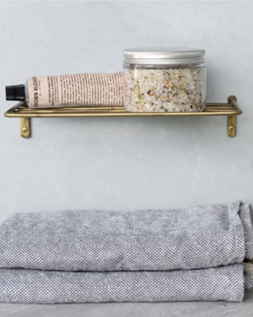 Brass Wire Shelf <br>Fog Linen
