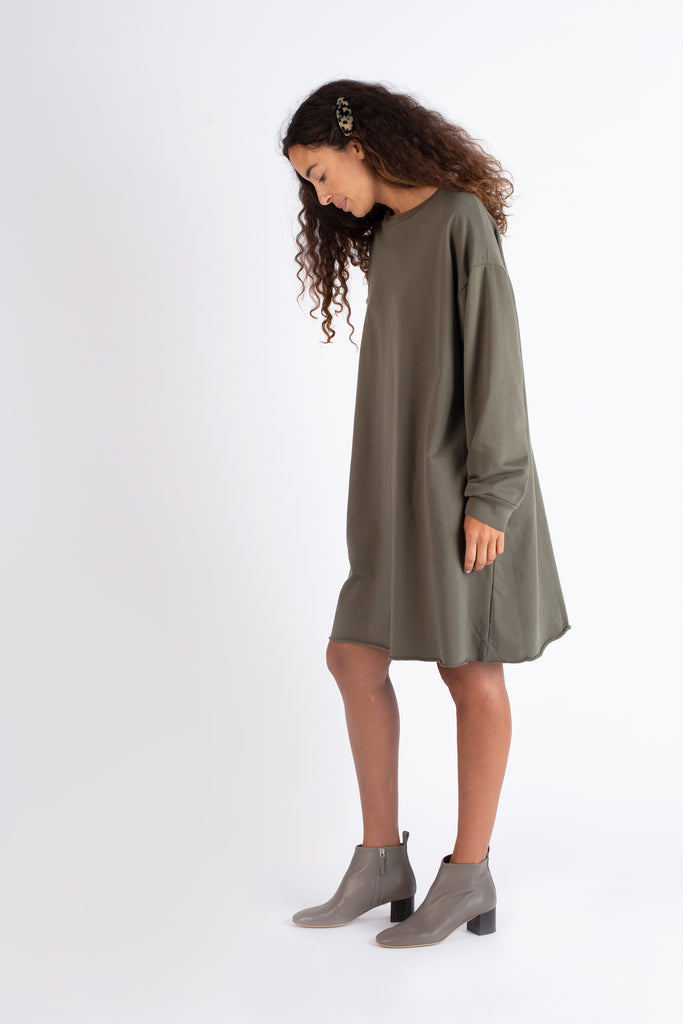 French Terry Crewneck Dress