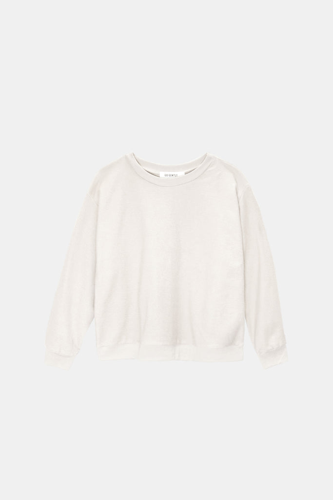 Womens Textured Crewneck