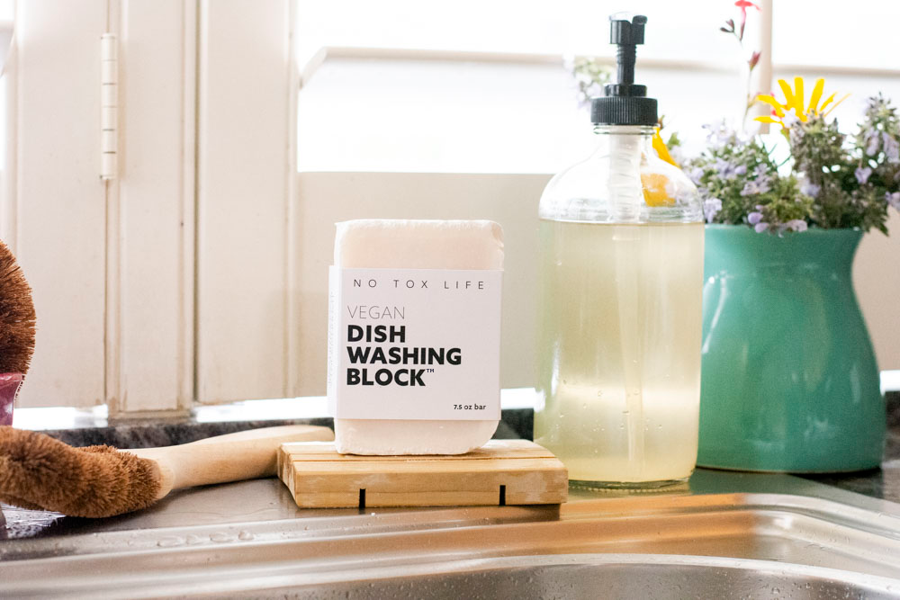 Dish Block® Zero Waste Dish Washing Bar<br>No Tox Life
