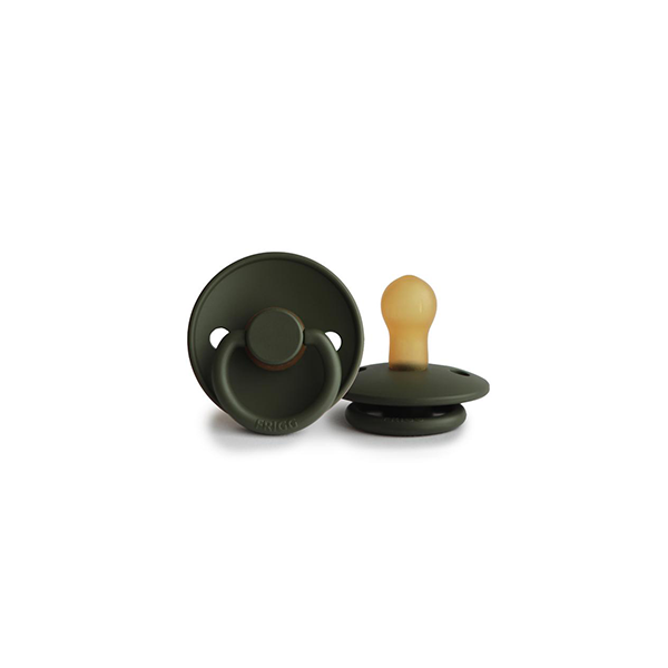 FRIGG Natural Rubber Pacifier - Olive