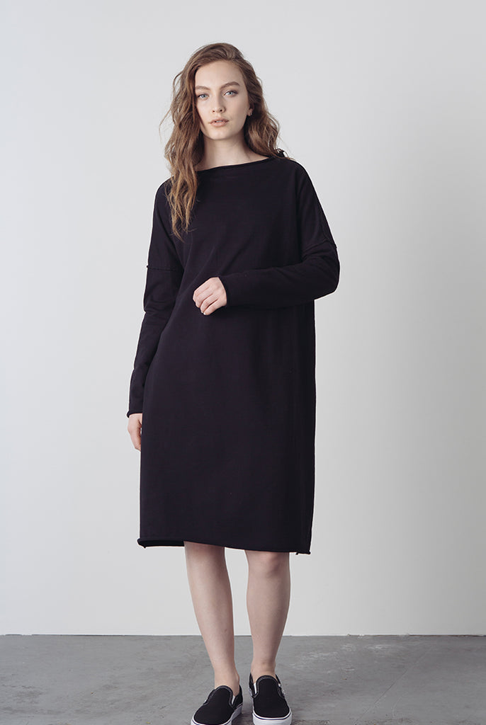 pullover french terry dress