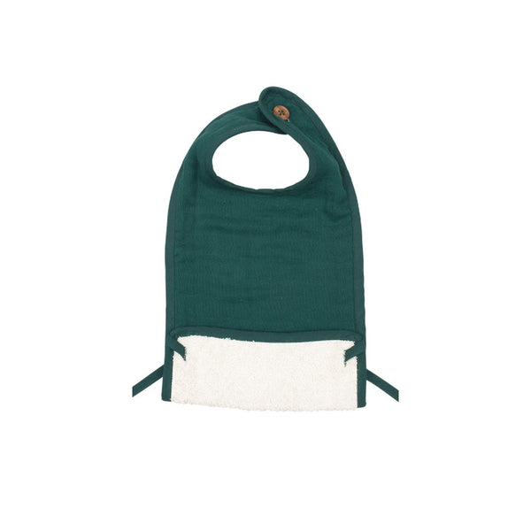 Muslin Feeding Bib - Evergreen<br> Fabelab