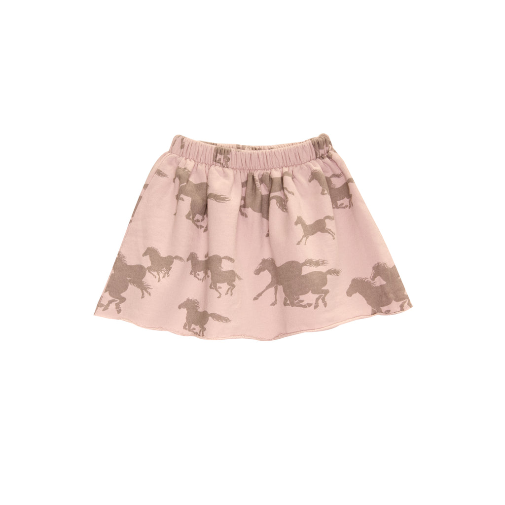 Printed French Terry Skirt