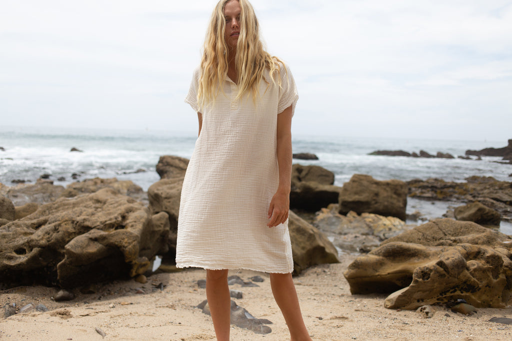 Gauze Caftan Dress