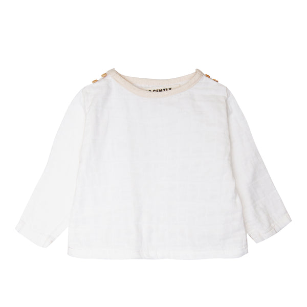 Gauze Double Button Top