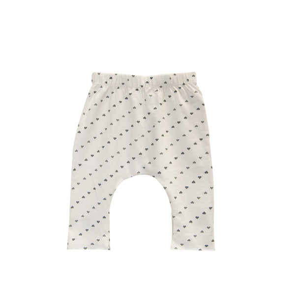 Hearts Printed Jersey Baby Pant