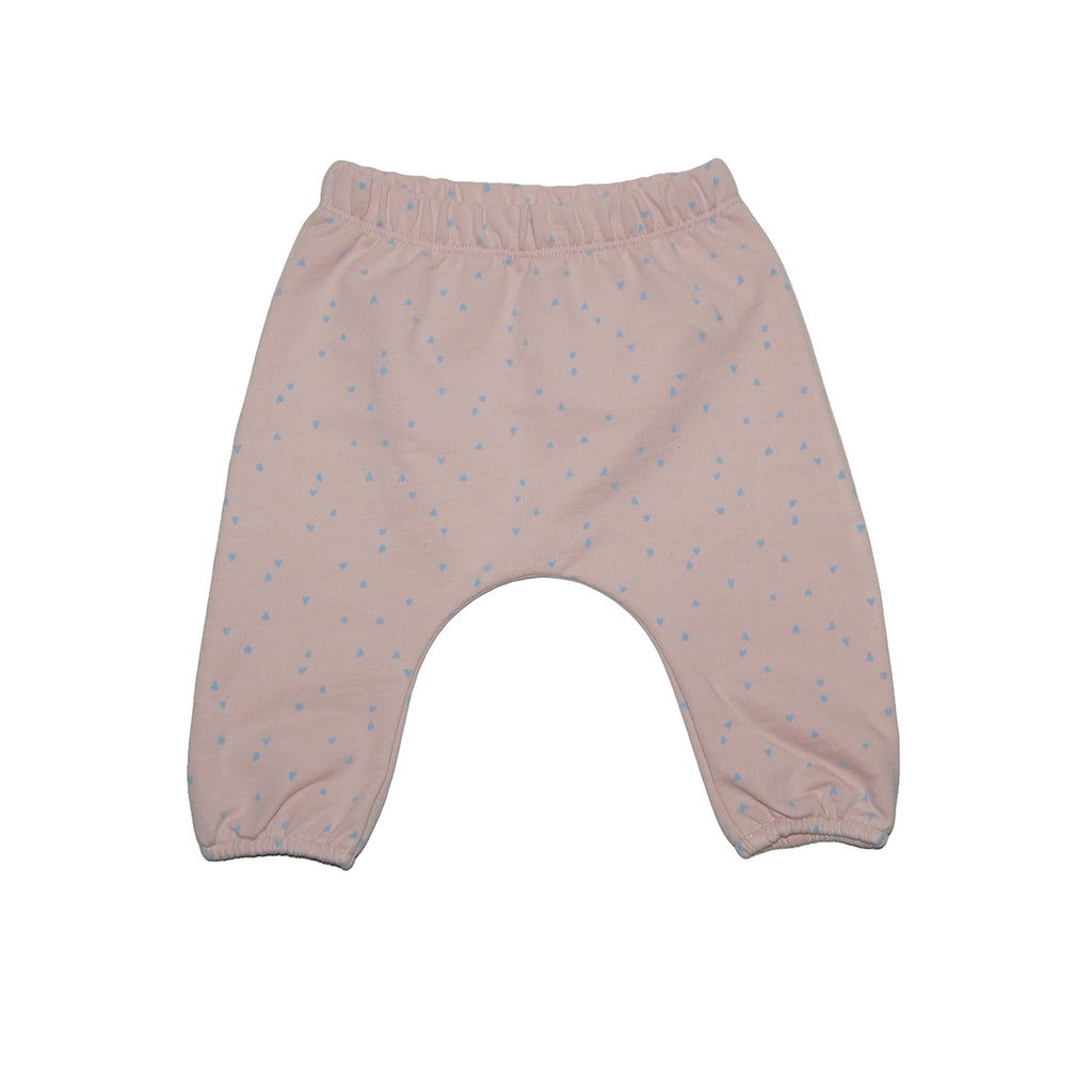 Hearts french terry baby pant