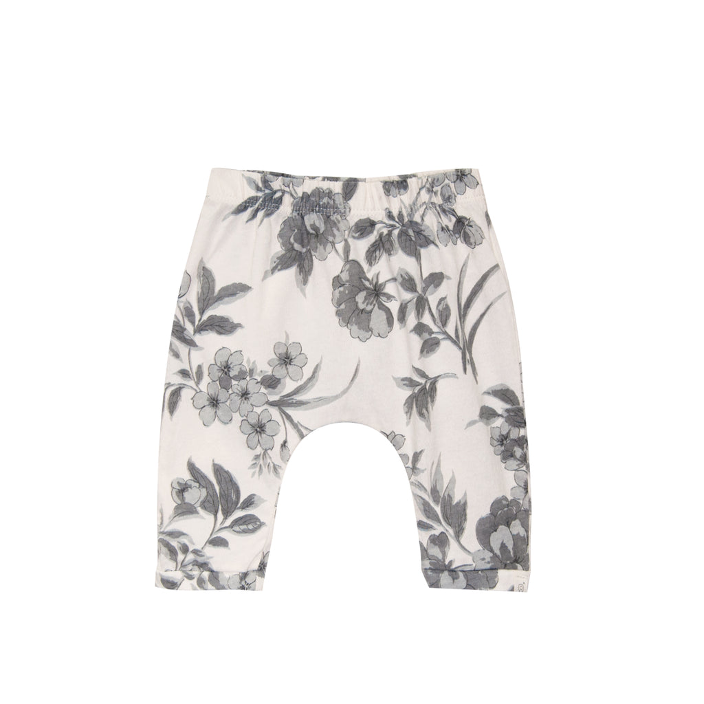 Floral jersey baby pant