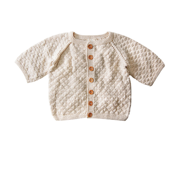 Heirloom Handmade Organic Cardigan - Kaia