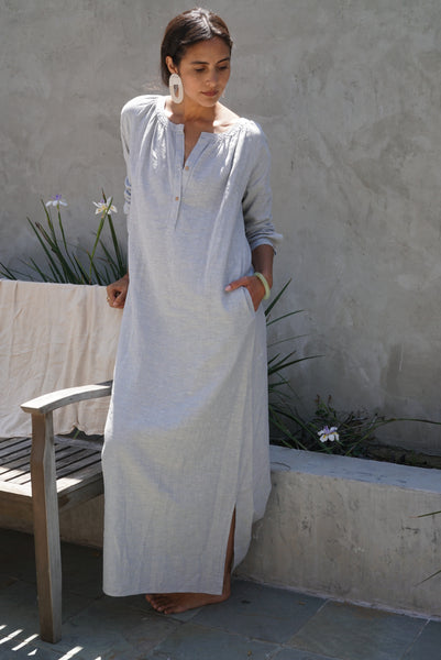 Maxi Hemp Shirt Dress