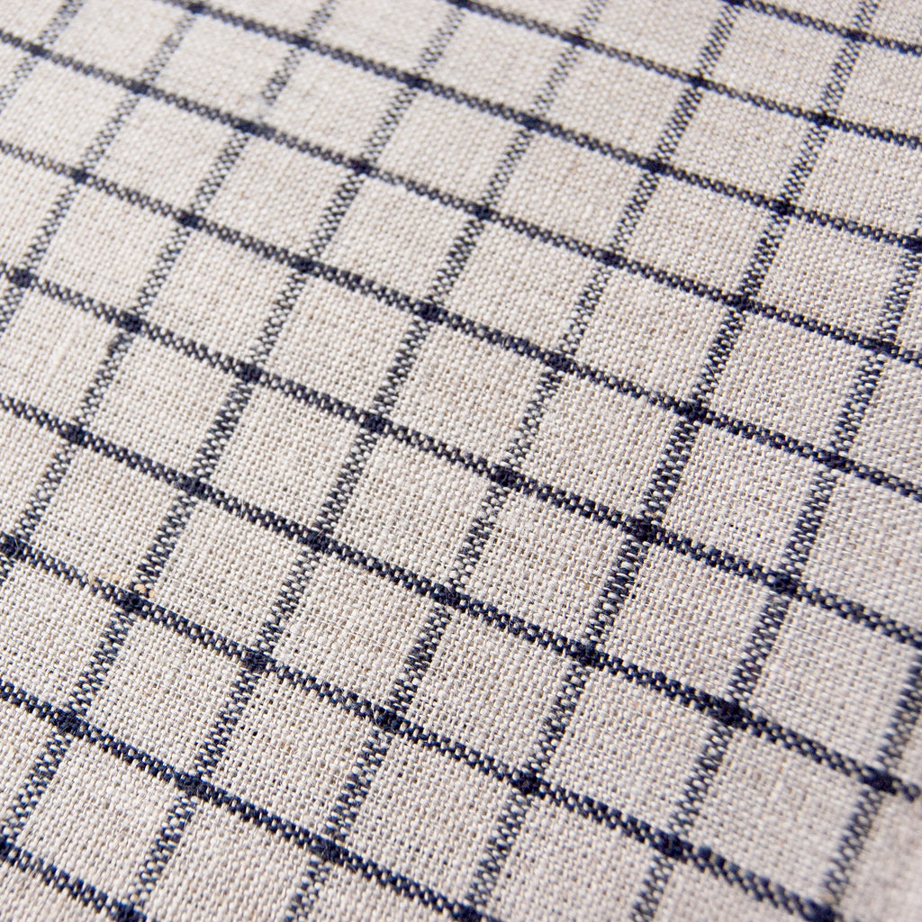 Linen Kitchen Cloth Beige Black Plaid<br>  fog linen