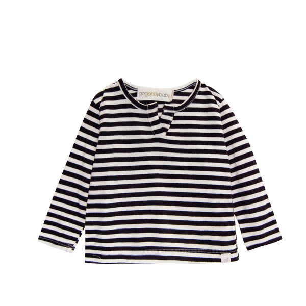 Long Sleeve Stripe Jersey Henley