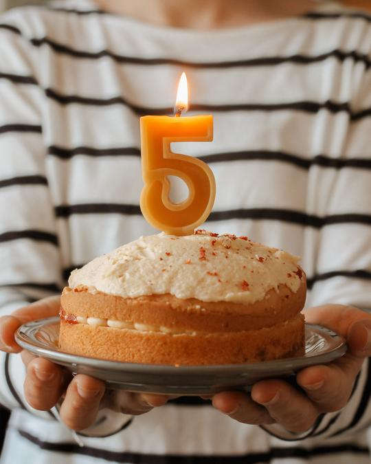 Beeswax Number Candles -  Set of 10 numbers
