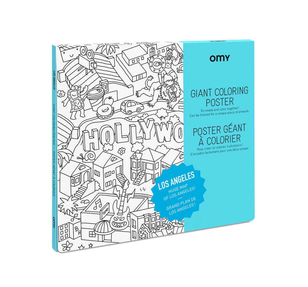Giant Coloring Poster - Los Angeles<br> OMY