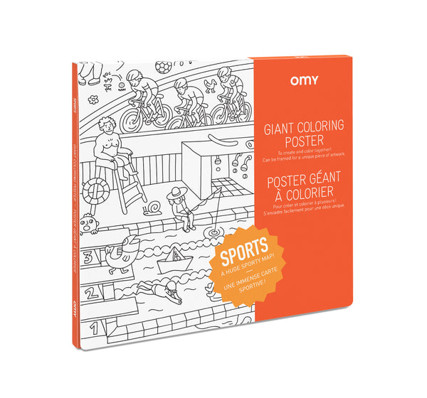 Giant Coloring Poster - Sports<br> OMY