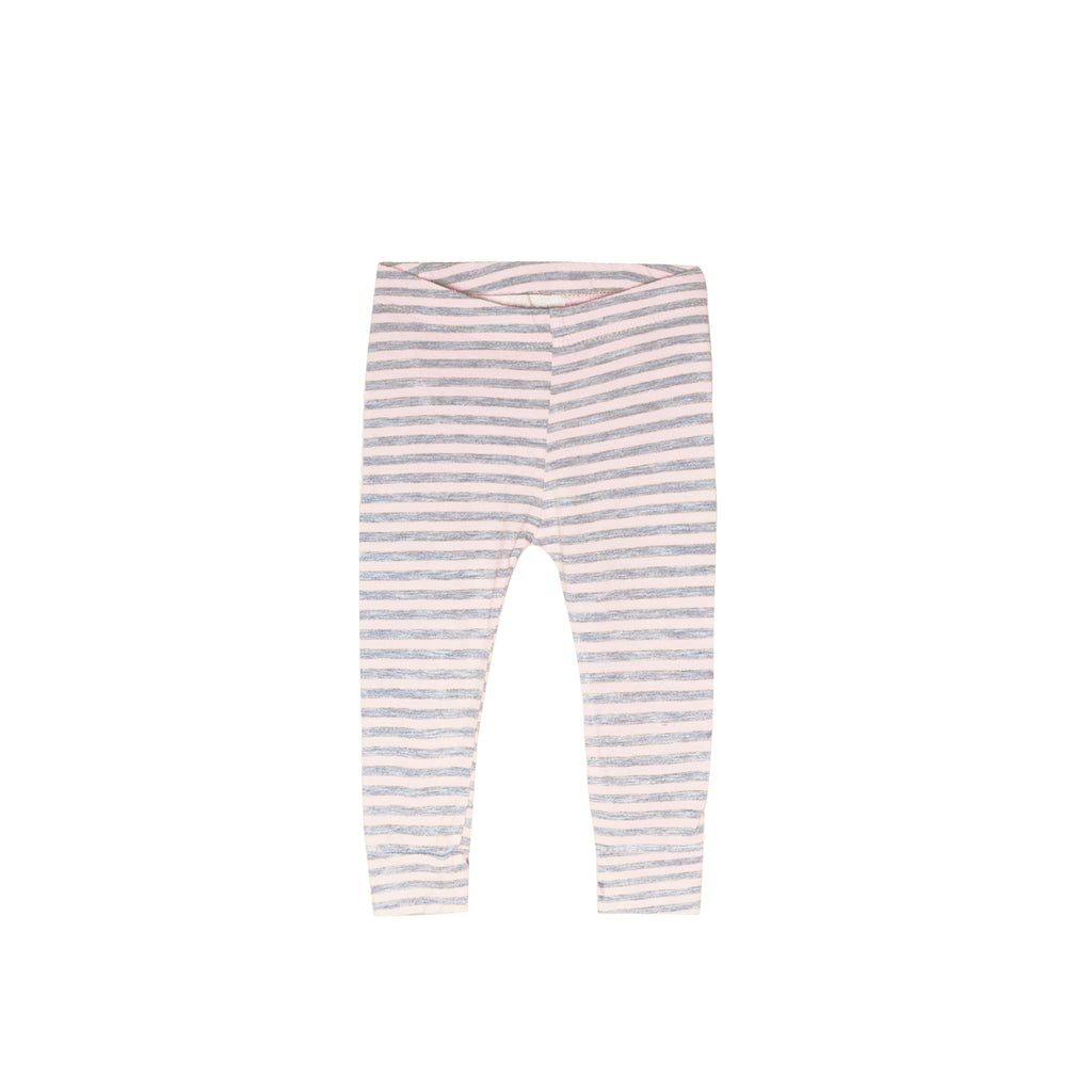 Stripe pencil pant - blush