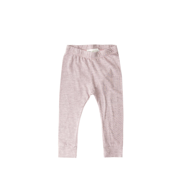 Mini Stripe Pencil Pant - blush