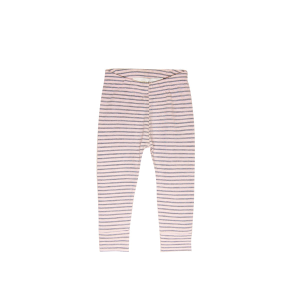 Stripe Pencil Pant - gray/blush