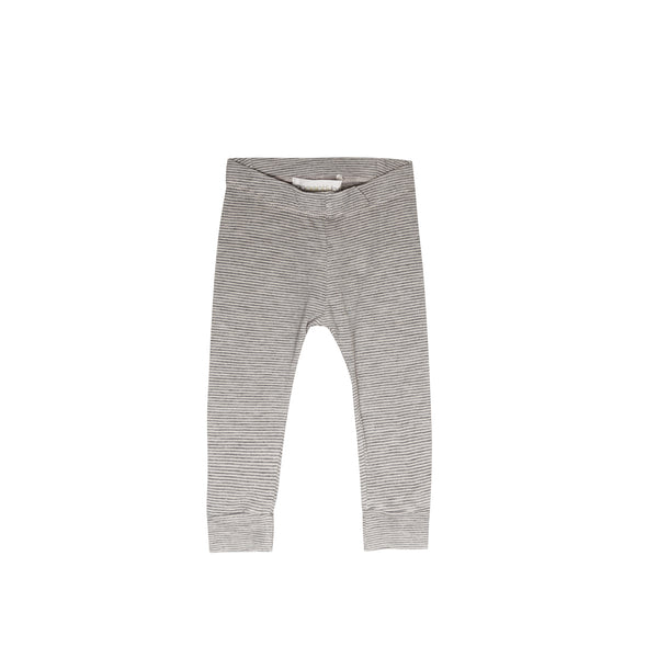 Mini Stripe Pencil Pant - gray