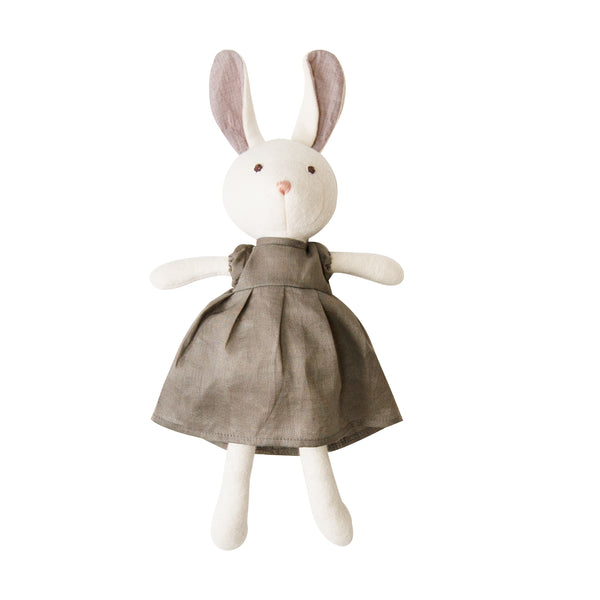 Penelope in Beech Gray Linen Dress <br>Hazel Village