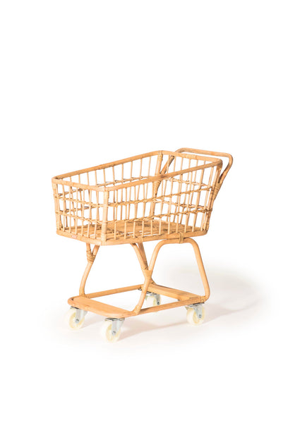 Rattan Shopping Cart <br> Poppie Toys