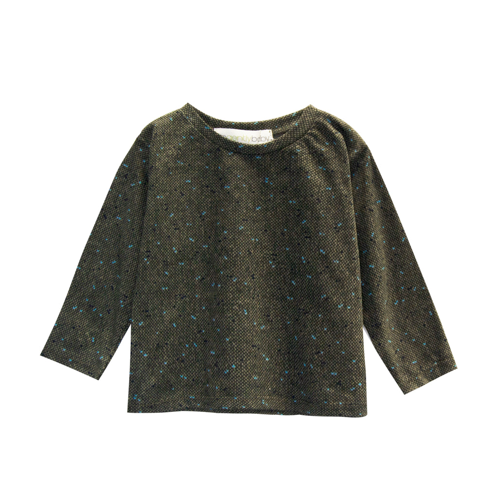 Tweed Long Sleeve Printed Tee