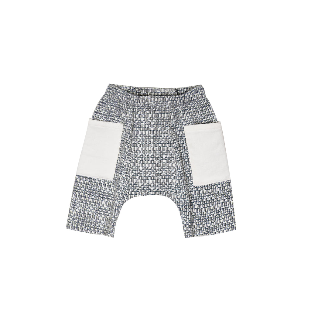 Printed French Terry Pocket Short
