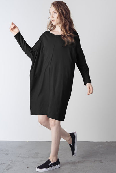 jersey raw seam dress