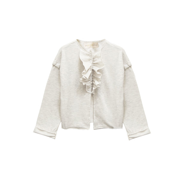Ruffle Cardigan Jacket