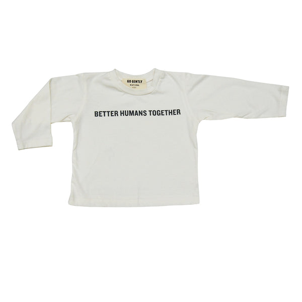"""let's be"" better humans together tee"