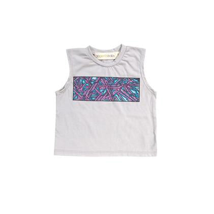graffiti screen muscle tee